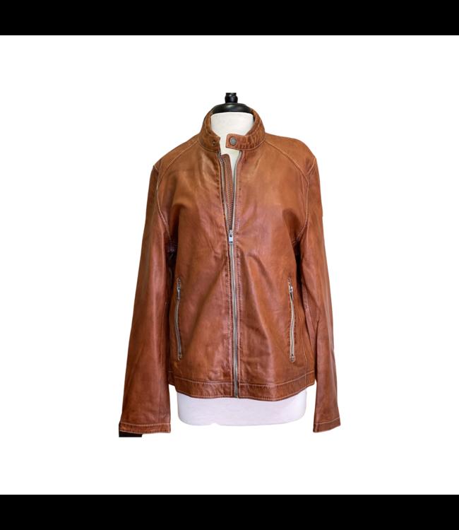 Mauritius Menny RF Cognac Leather Jacket