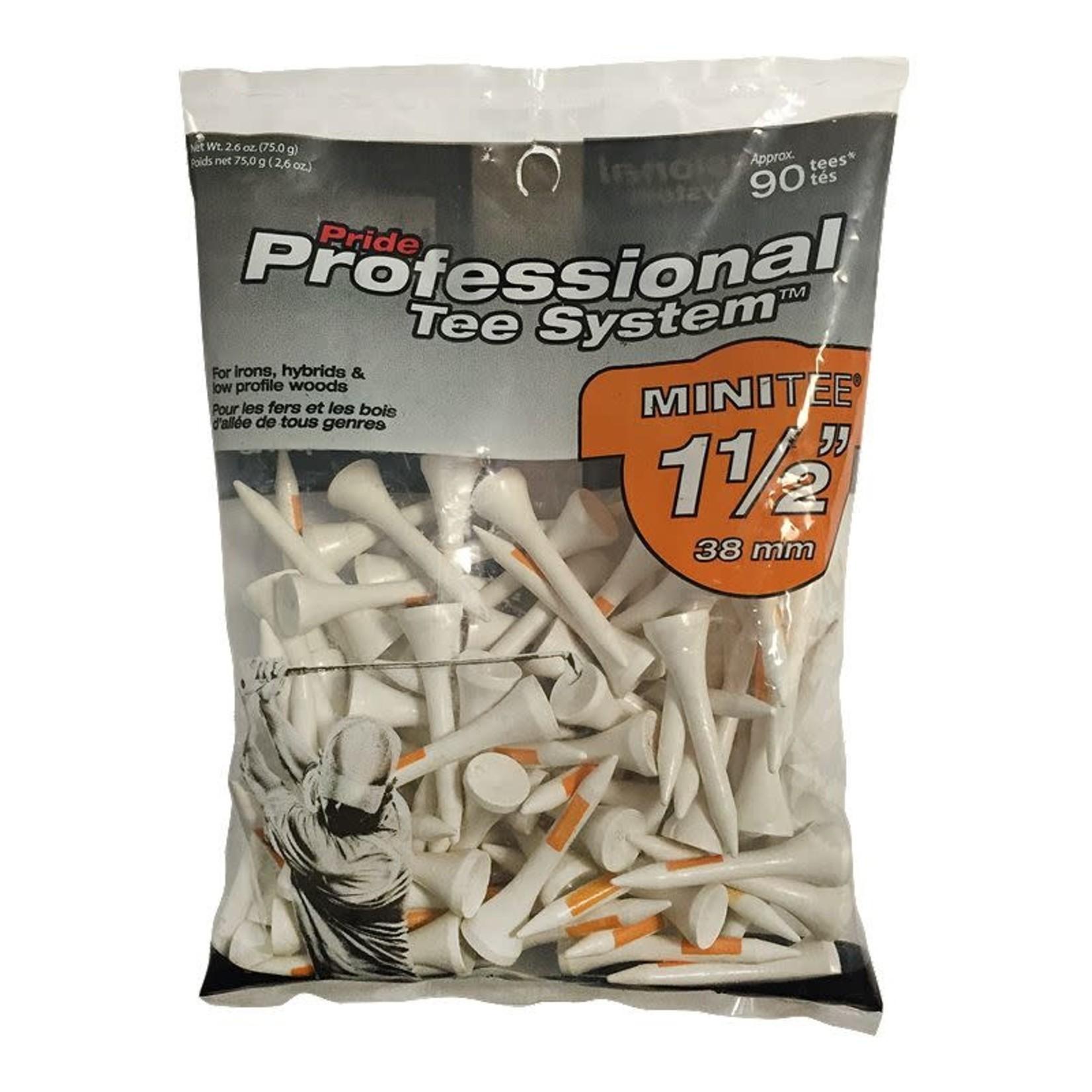 "PTS TEES PLASTIC 1.5"" 10/BAG"