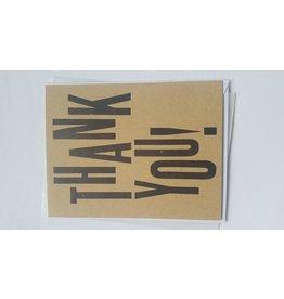 McLachlan, Sean Thank you, card, by Printmonger Press