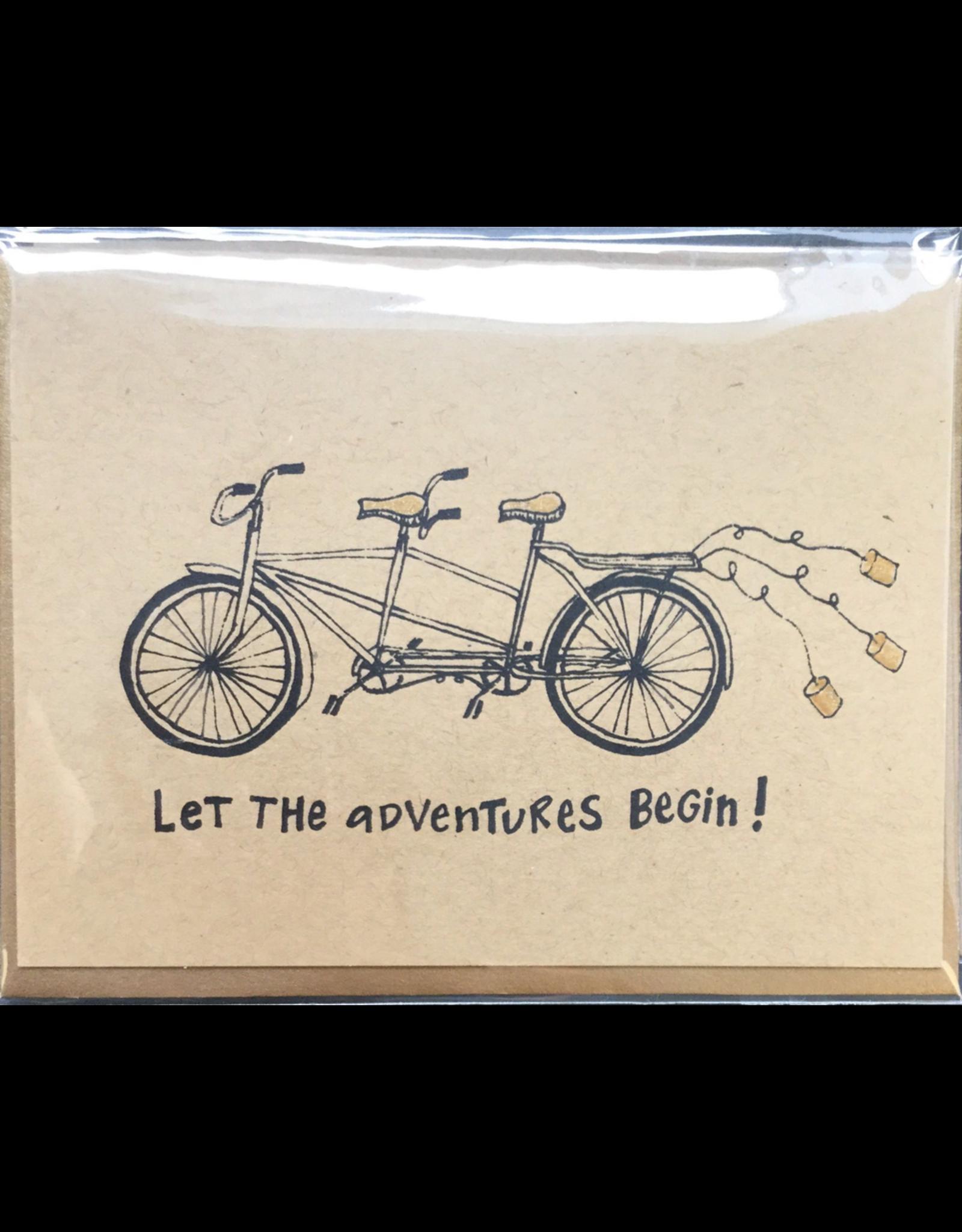 Karen Fuhr Let the adventures begin, card