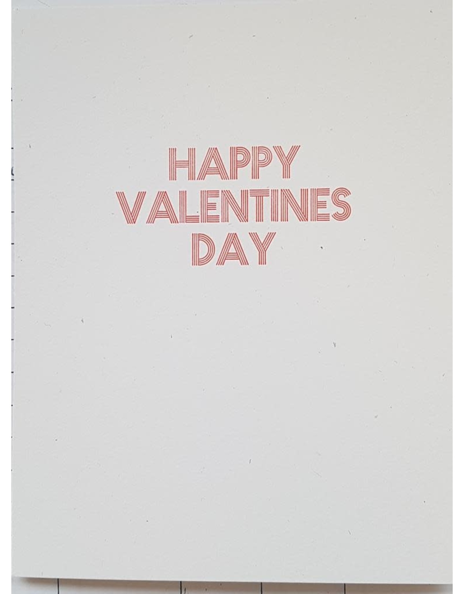 McLachlan, Sean Happy Valentine's Day card, by Printmonger Press