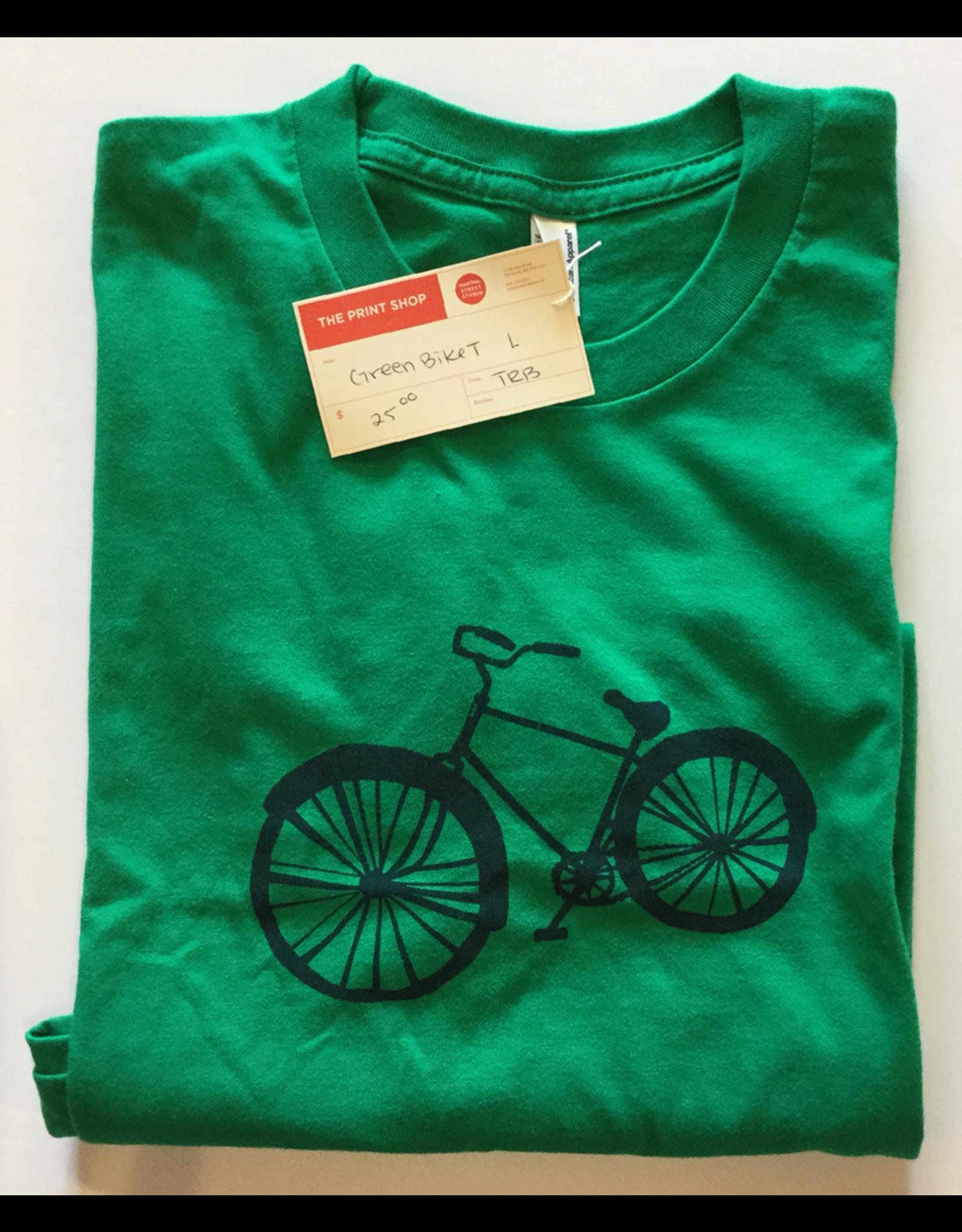 biebrich, tamara rae Green Bike Tee, Clothing