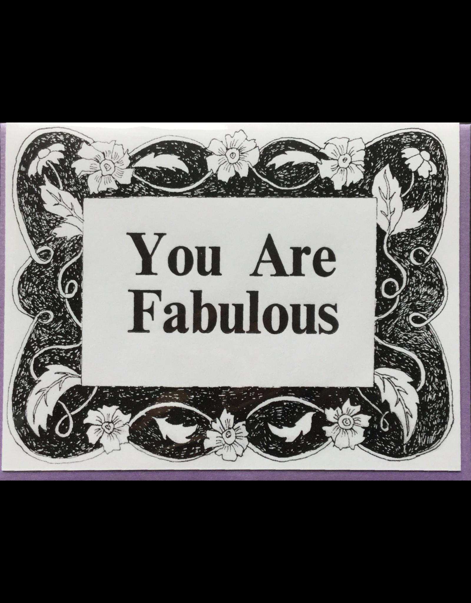 Karen Fuhr You Are Fabulous, card