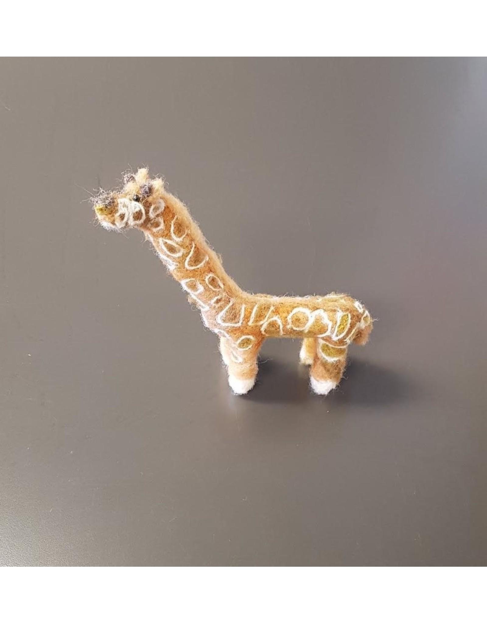 Dzama, Jeanette & Maurice Baby Giraffe, Needle Felted Animal by Jeanette and Maurice Dzama