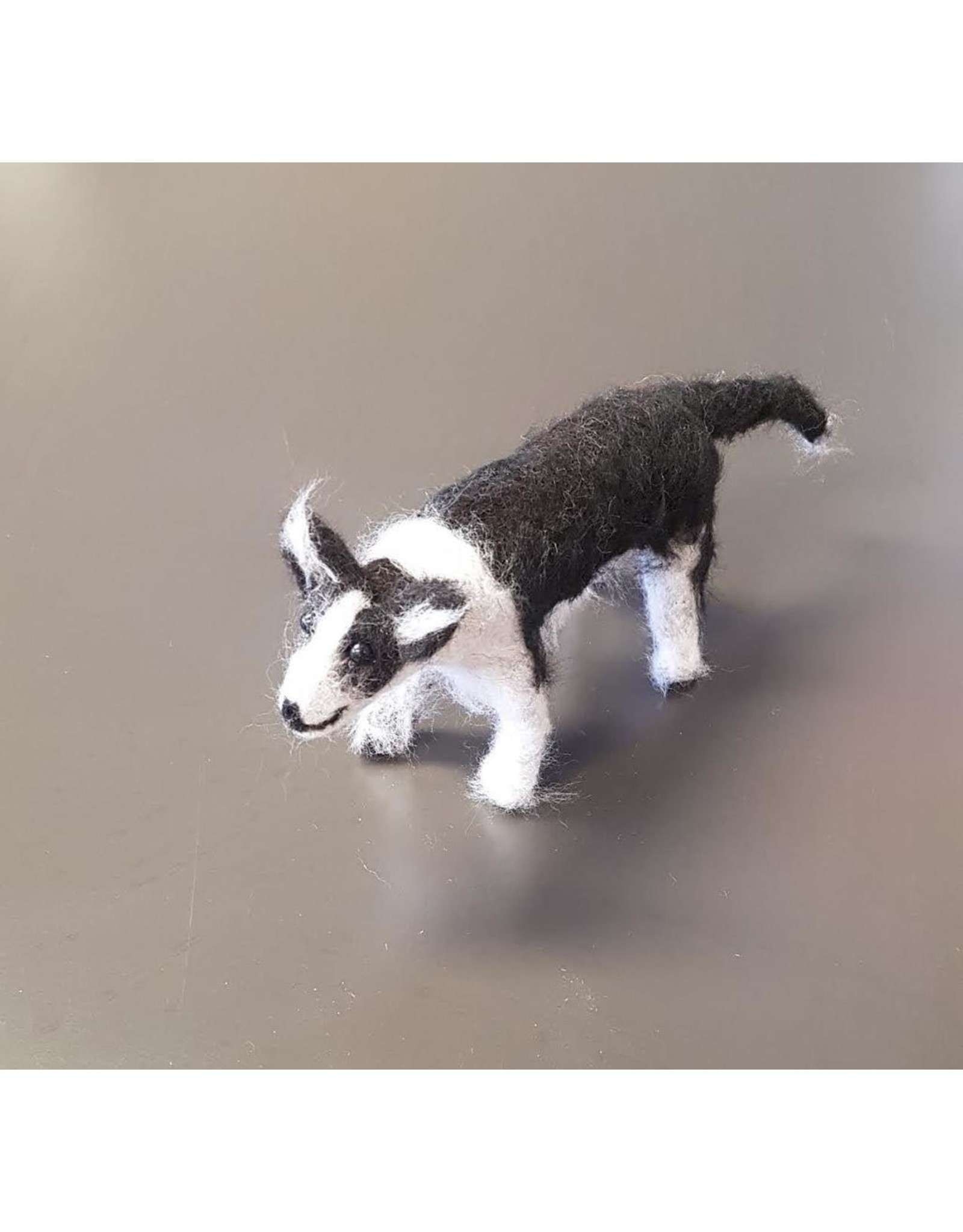 Dzama, Jeanette & Maurice Border Collie, Needle Felted Animal by Jeanette and Maurice Dzama
