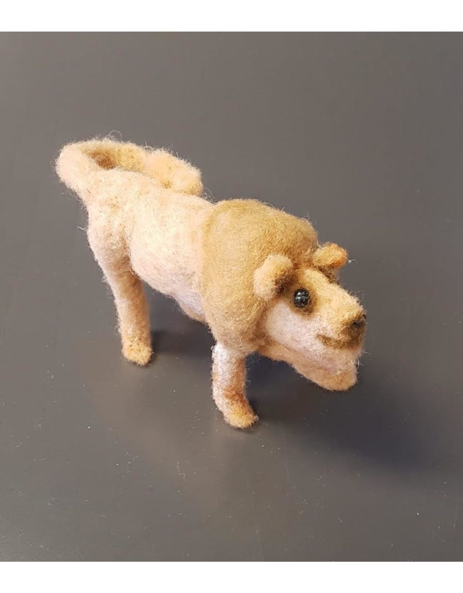 Dzama, Jeanette & Maurice Lion, Needle Felted Animal by Jeanette and Maurice Dzama