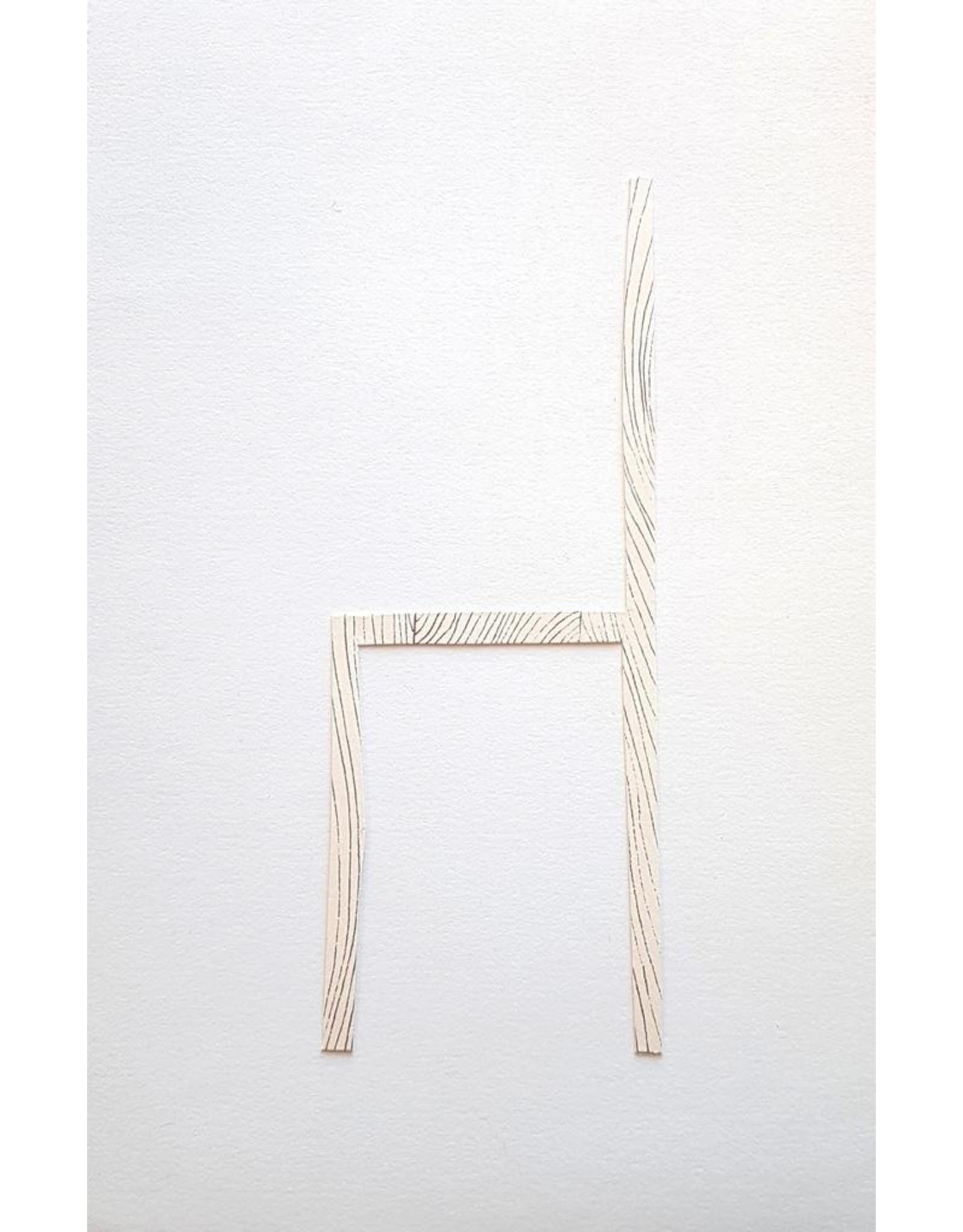 Josephson-Laidlaw, Erin Chair, screen print and collage by Erin Josephson-Laidlaw