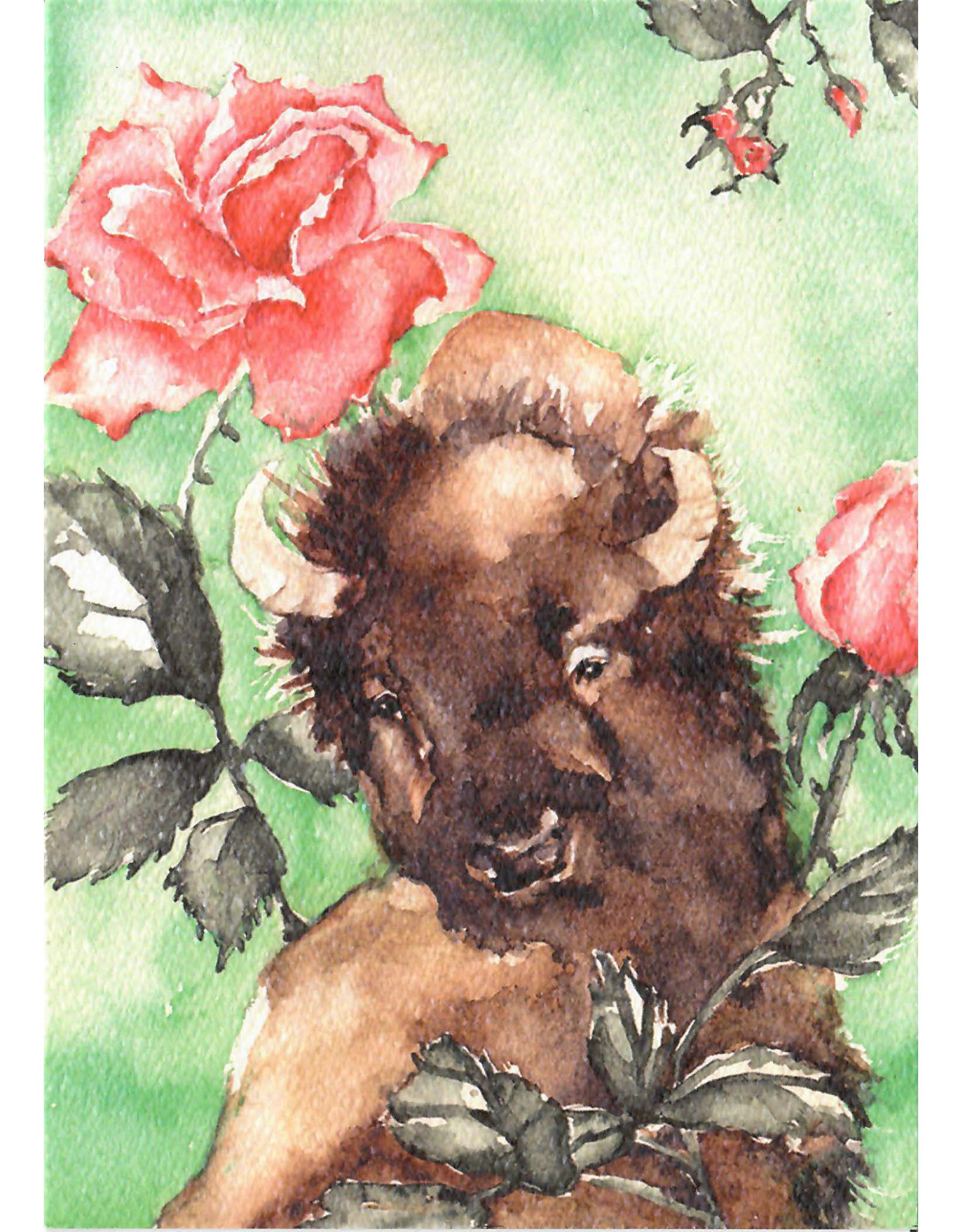 Scanlon, Rosemary Bison Icon - greeting card (blank
