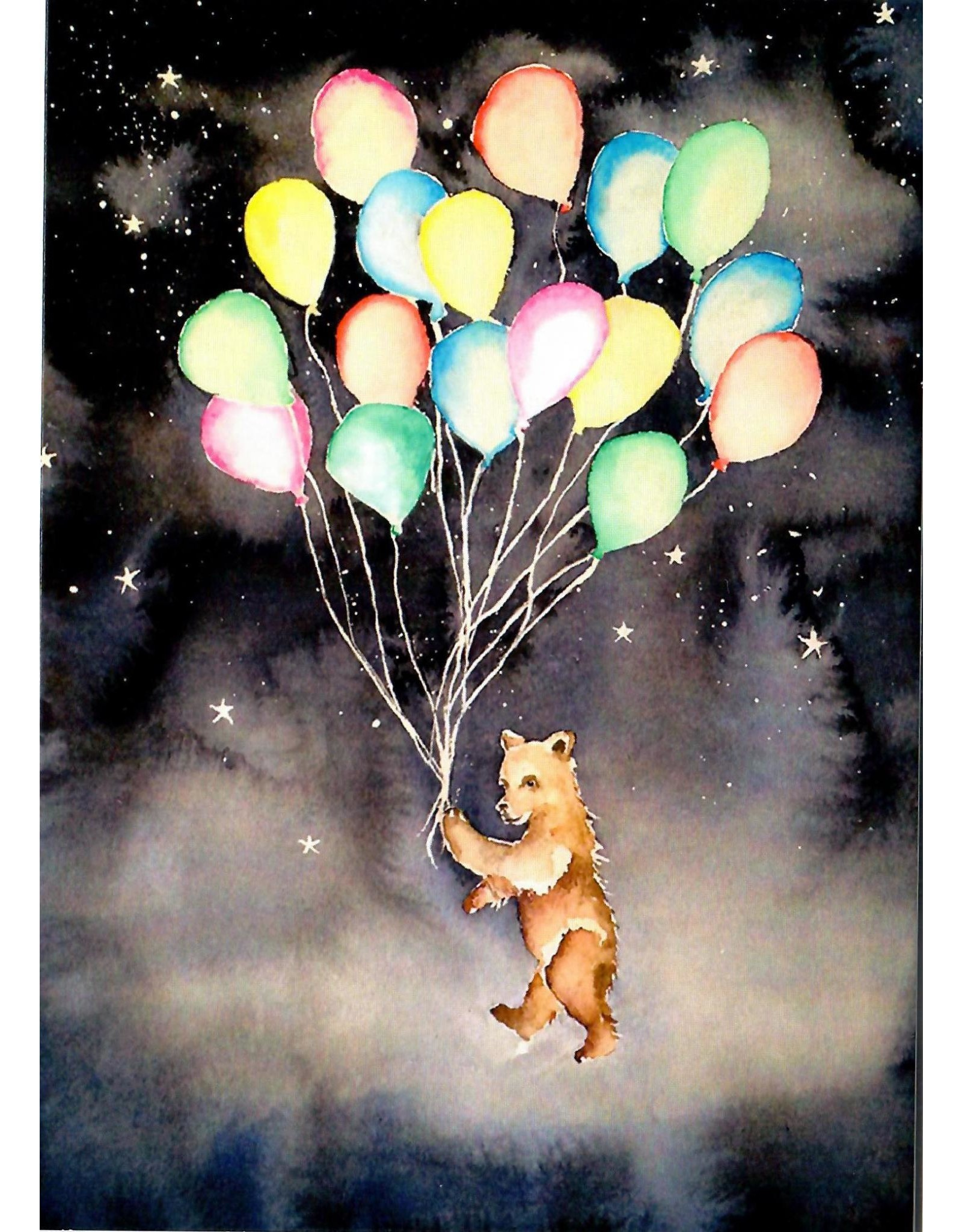 Scanlon, Rosemary Balloon Bear - greeting card (blank)