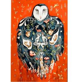 Scanlon, Rosemary Owl Icon - greeting card