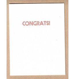 McLachlan, Sean Congrats! Letterpress Card, by Printmonger Press