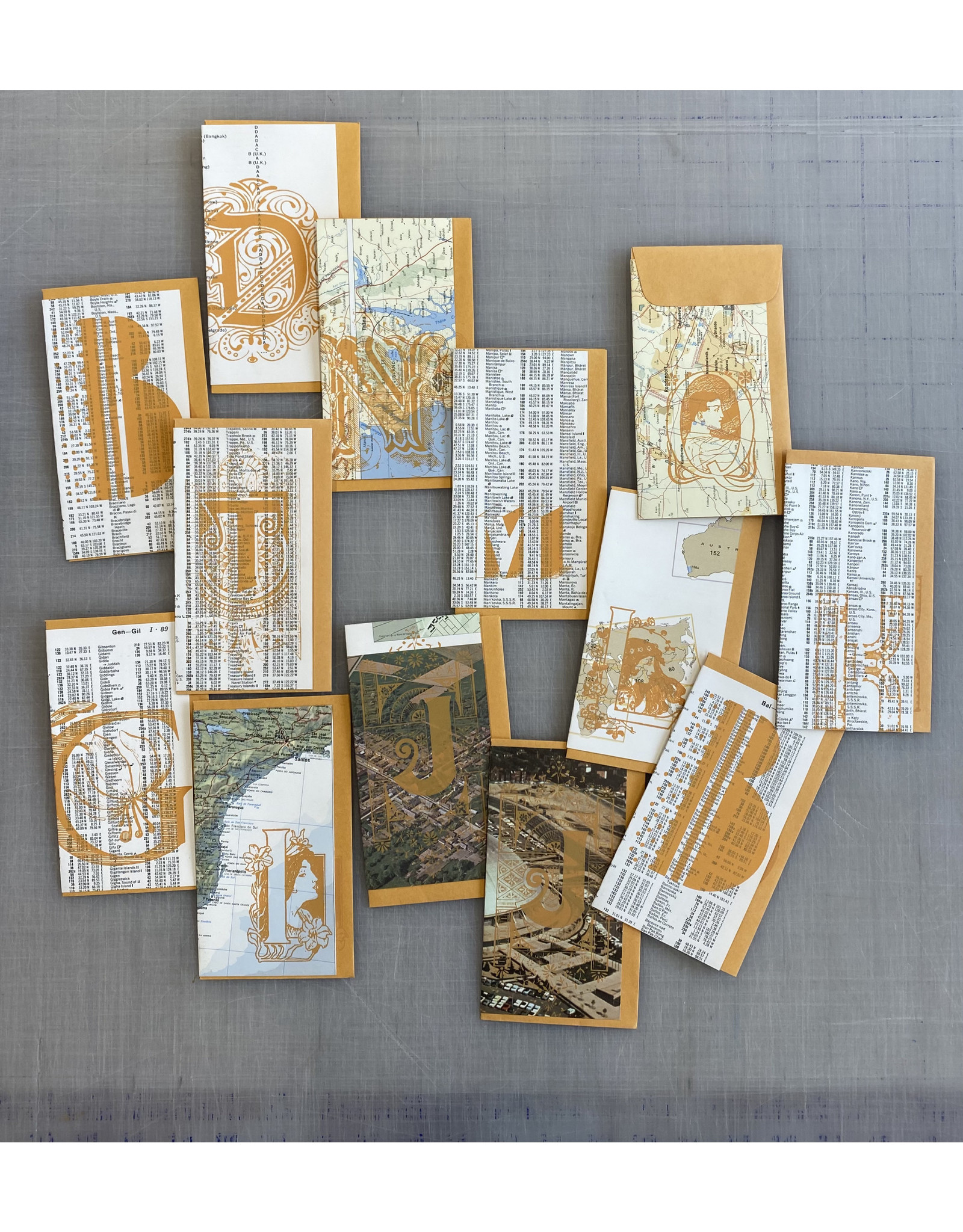 Johns, Jeanette Letter Map Cards, Greeting Cards