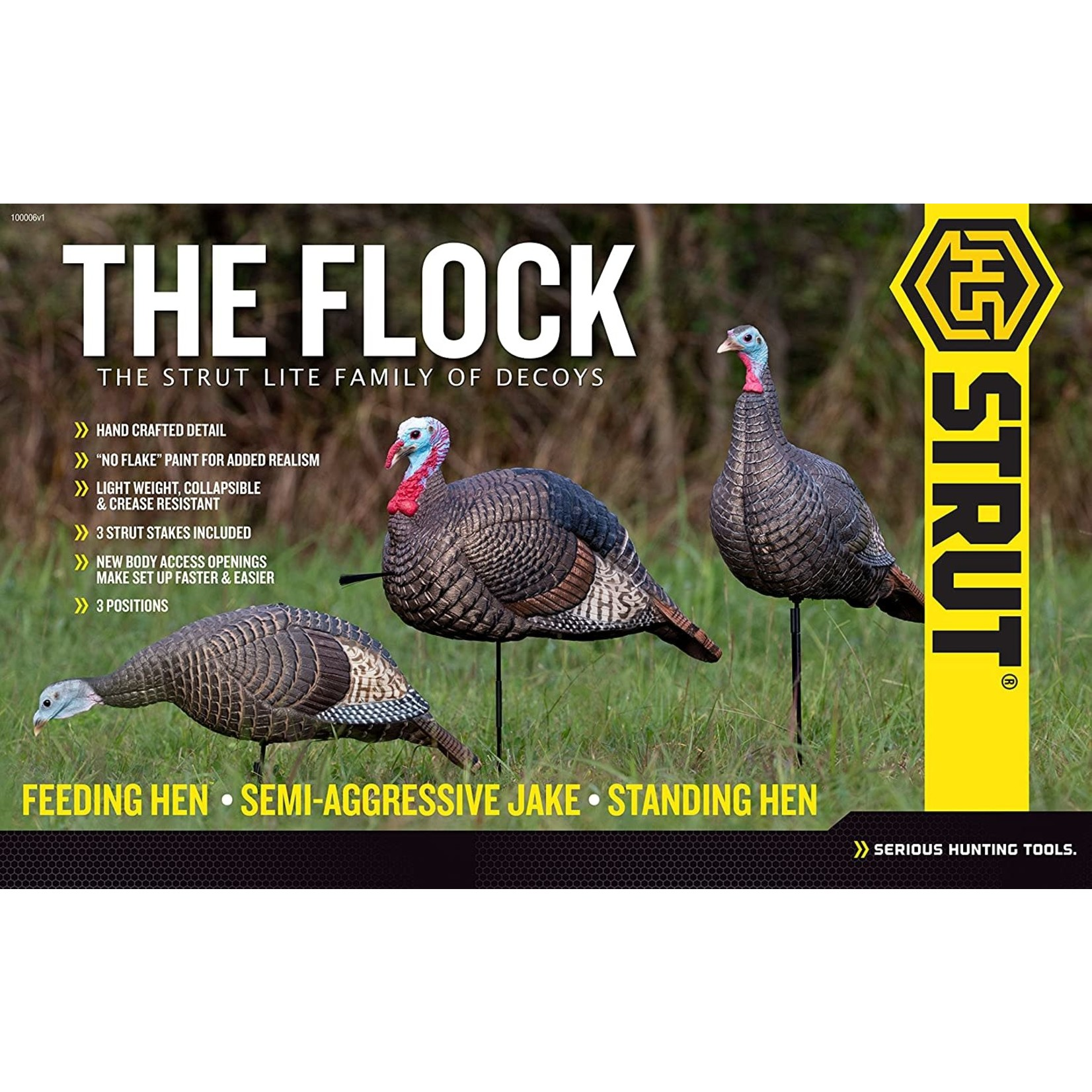 Hunter Specialties HS Strut Lite Flock Pk Turkey Decoys