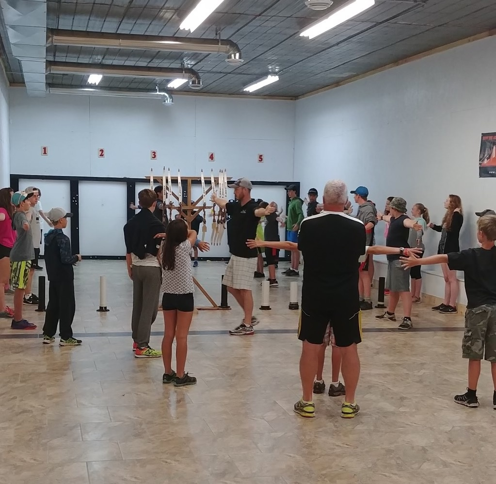 Instructor Jordan leading a Youth Class