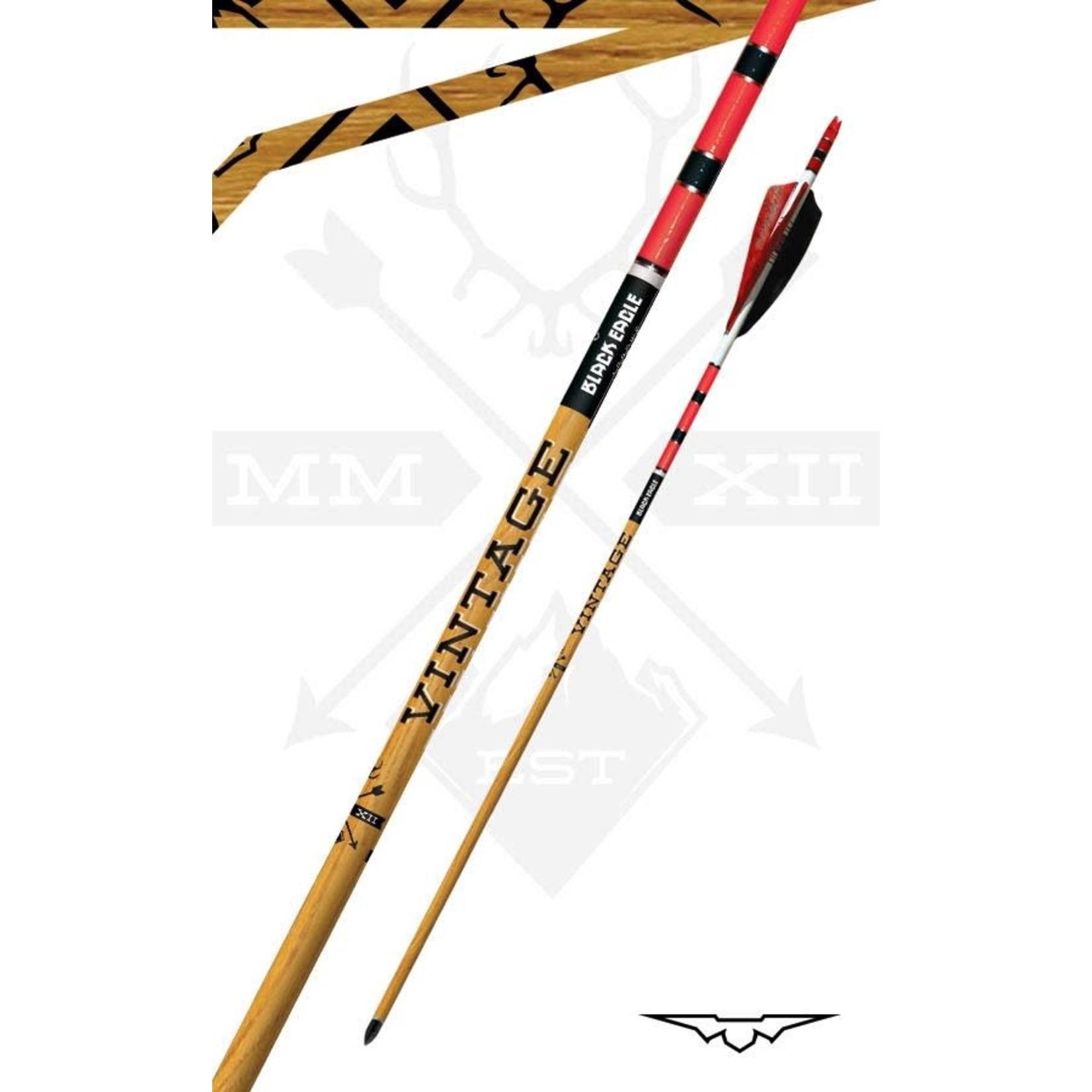 Black Eagle Black Eagle Vintage Crested Feathered Arrows 600 .003 (6 Pk)