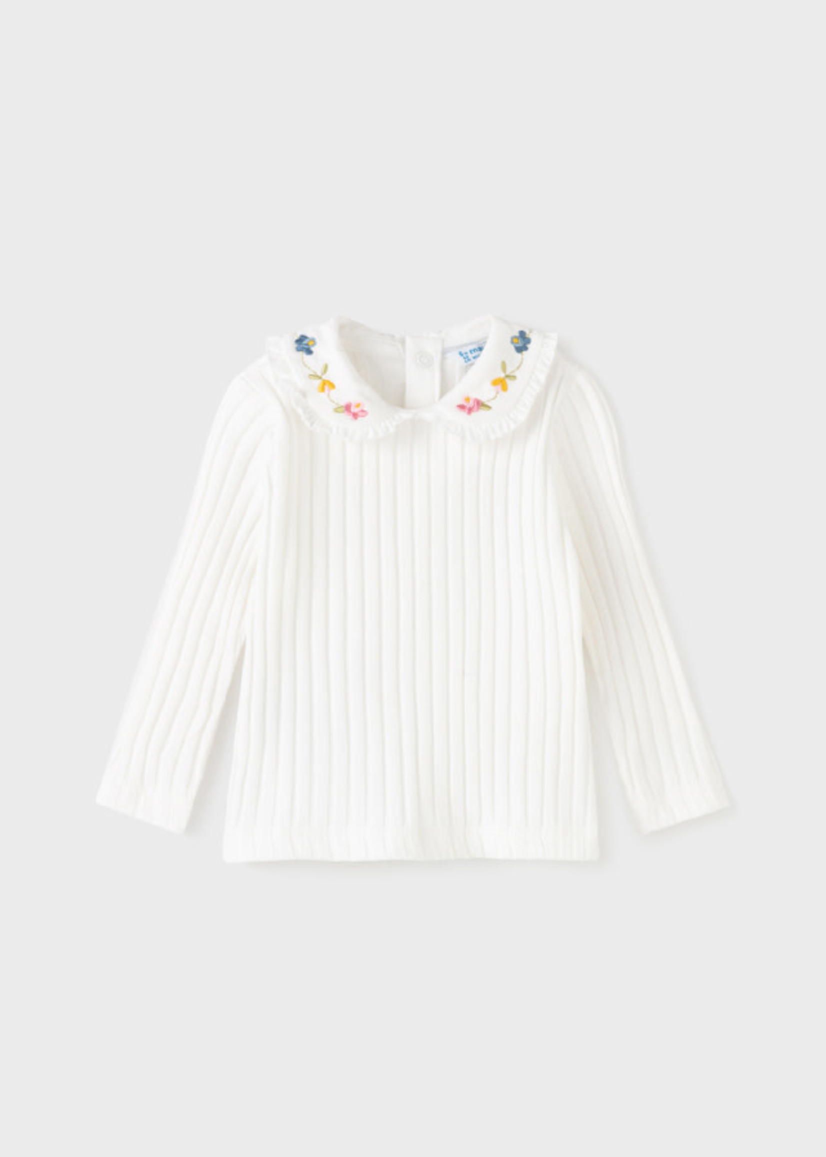 Mayoral M Embroidered Collar