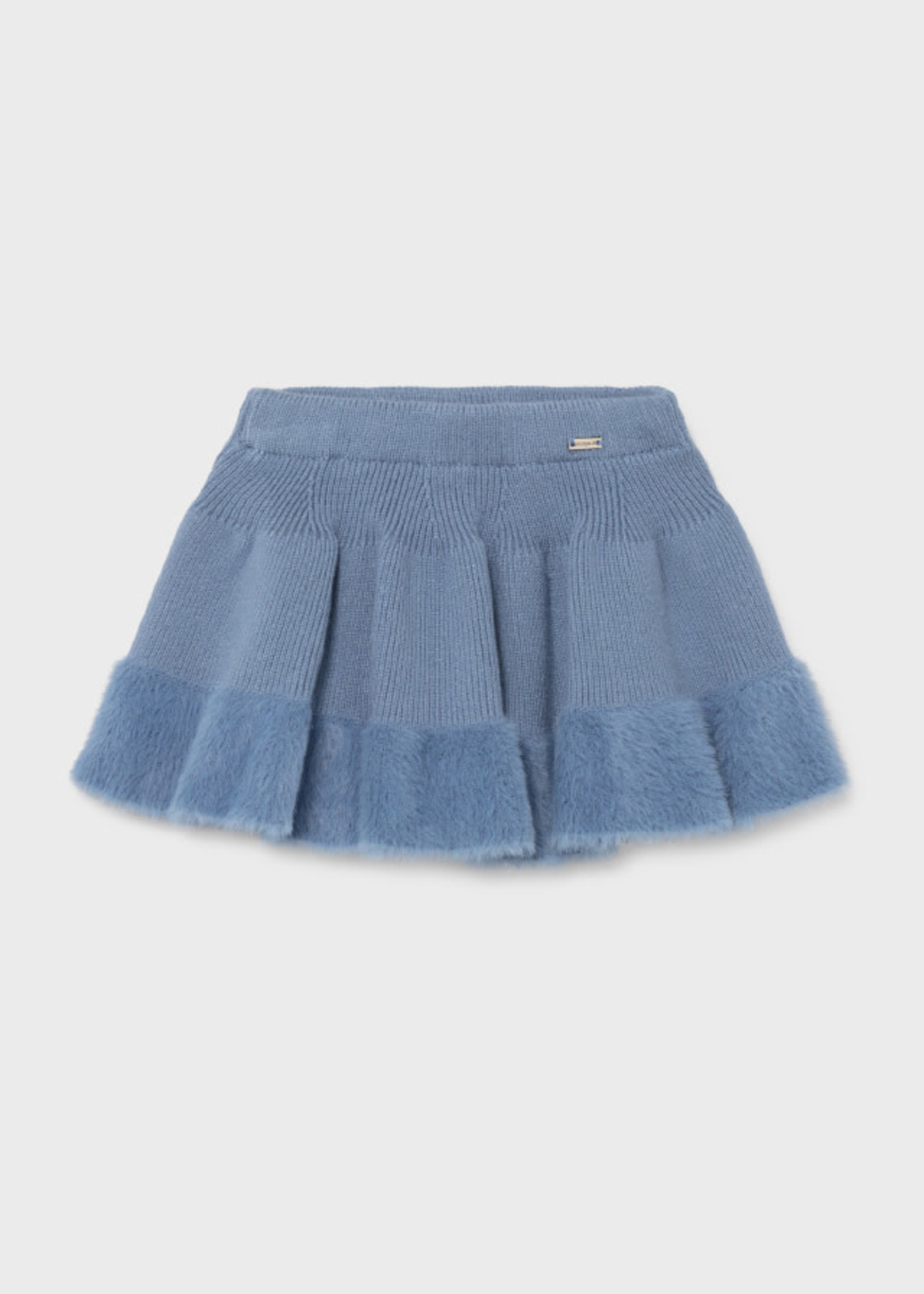 Mayoral M Faux Fur Trim Skirt