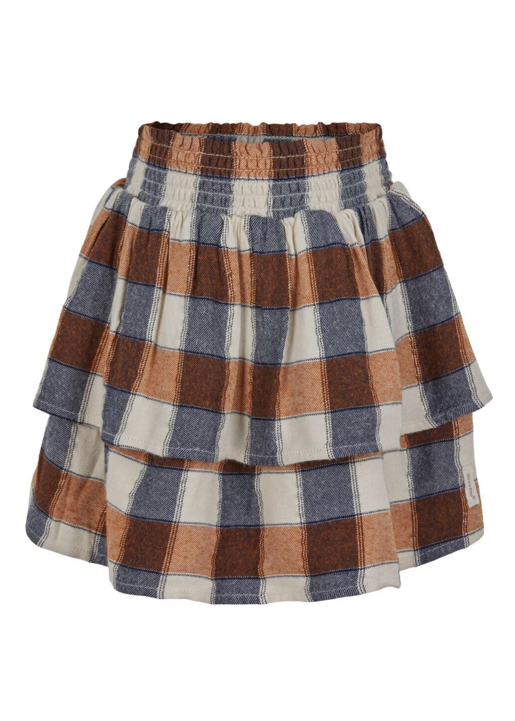 MM Fall Plaid Skirt w/Scrunchie