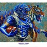 Evelina Dillon Memphis Tigers 18 X 24 Art Print
