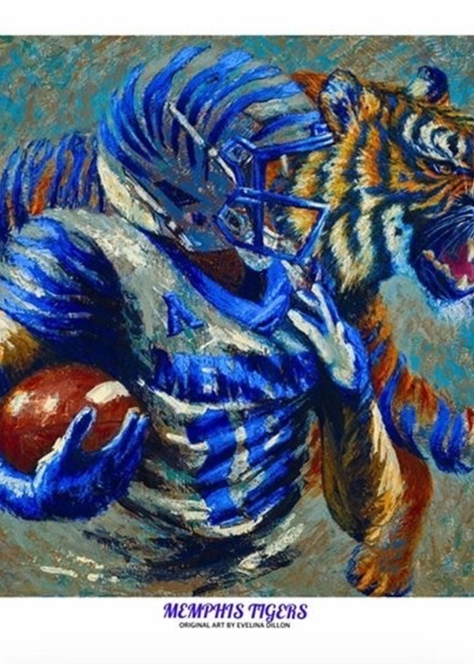 Evelina Dillon Memphis Tigers 24 X 36 Art Print