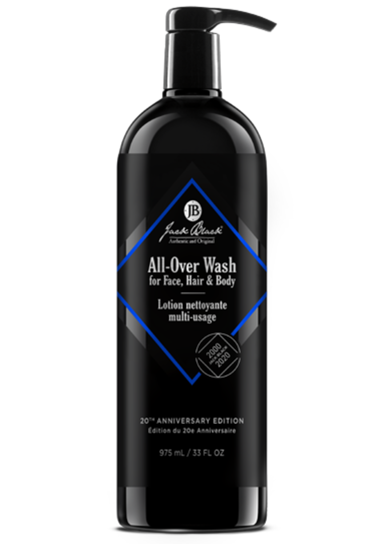 Jack Black All-Over Wash 20th Anniversary Energizing Cleanser 33 oz