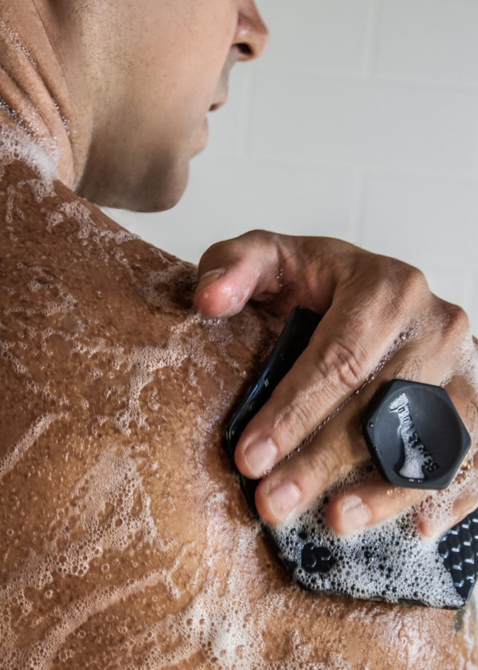 Tooletries Silicone Body Scrubber Charcoal