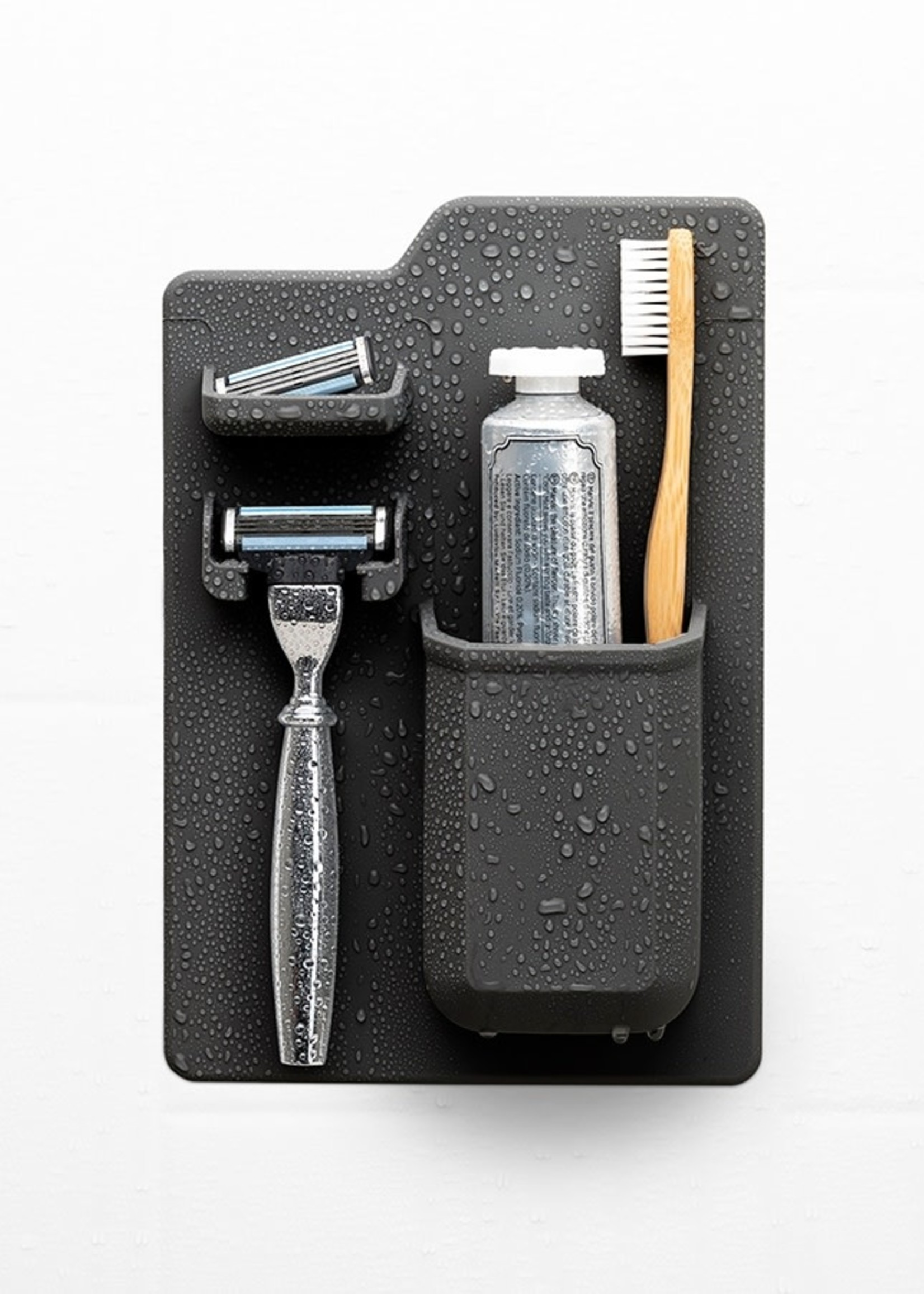 Tooletries The Harvey Toothbrush & Razor Holder Charcoal
