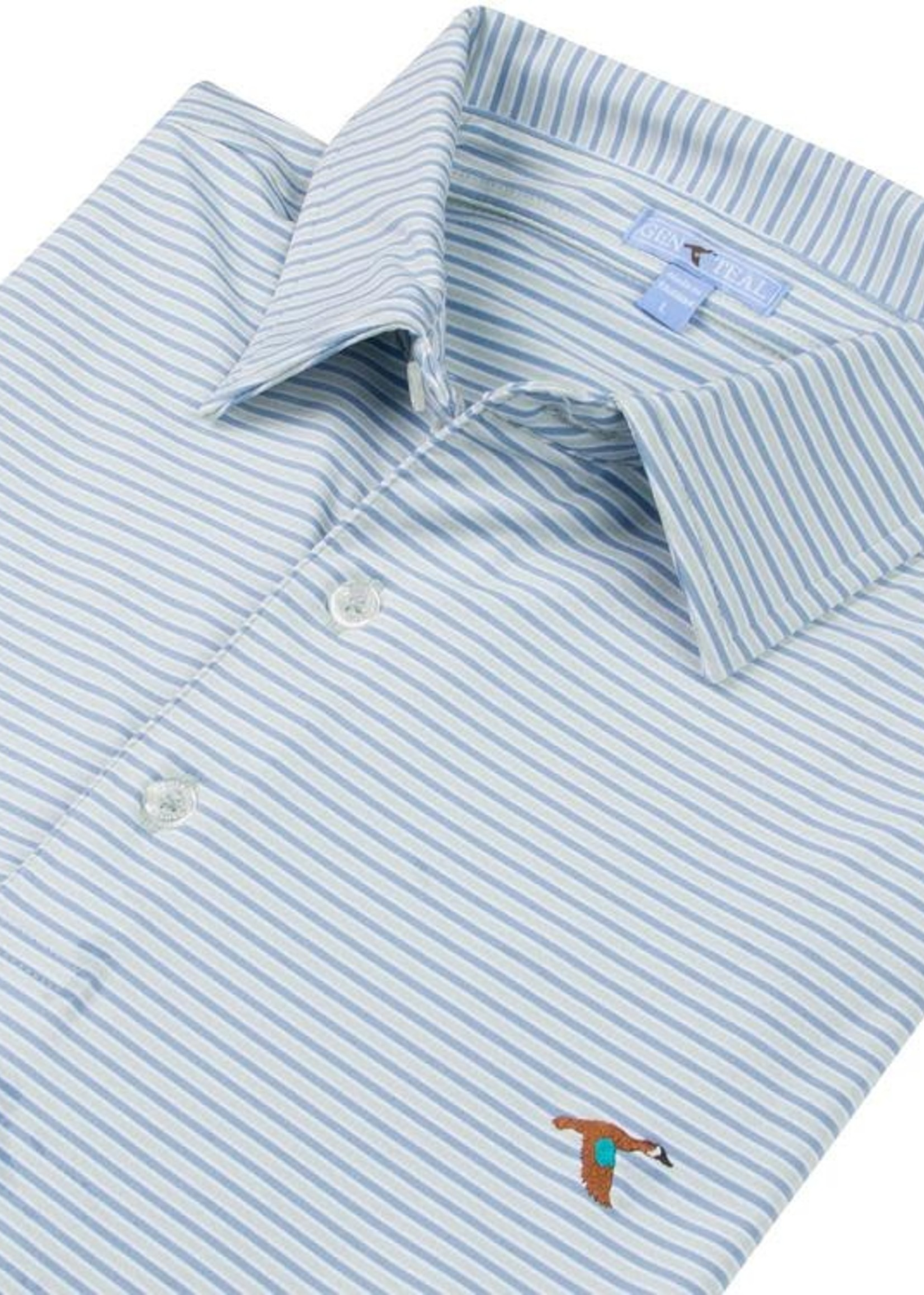 GenTeal Apparel Freeport Stripe Polo Seagrass