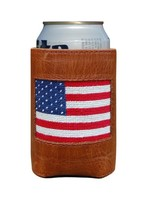 Smathers & Branson American Flag Needlepoint Coozie