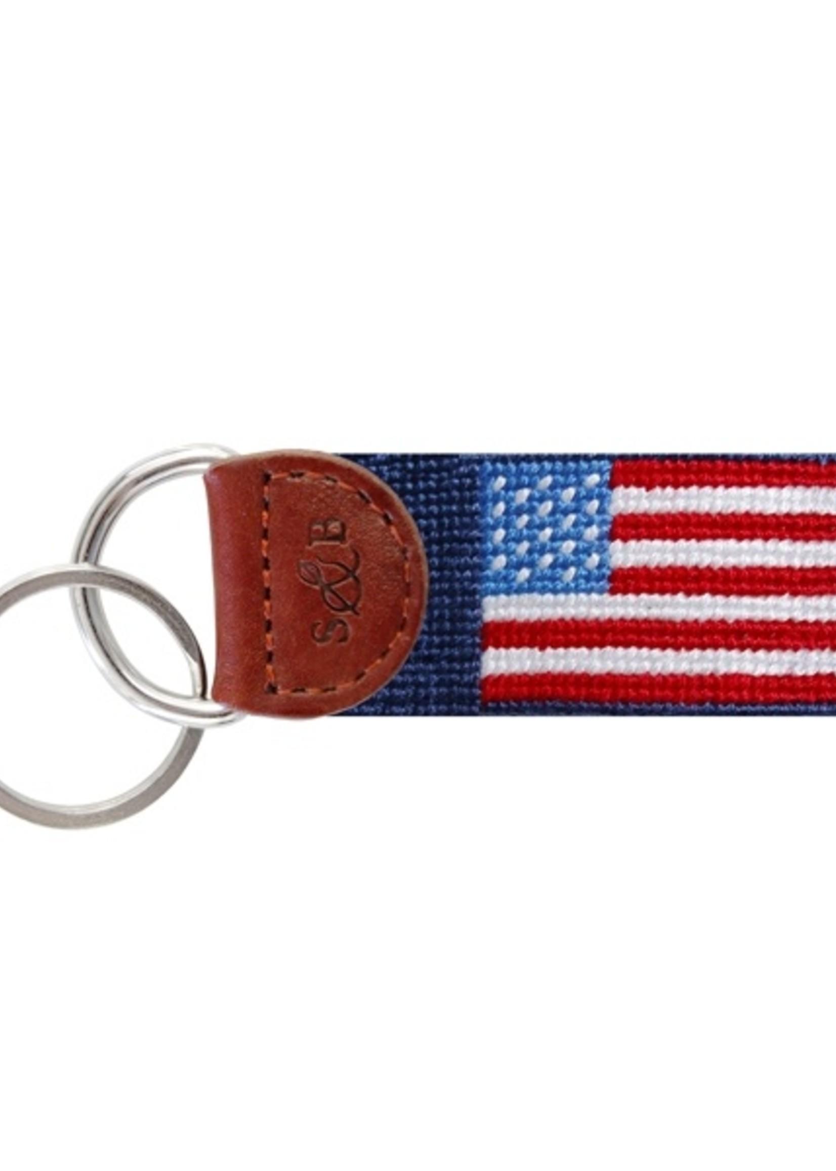 Smathers & Branson American Flag Key Fob Classic Blue
