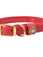 Over Under Water Dog Collar Red