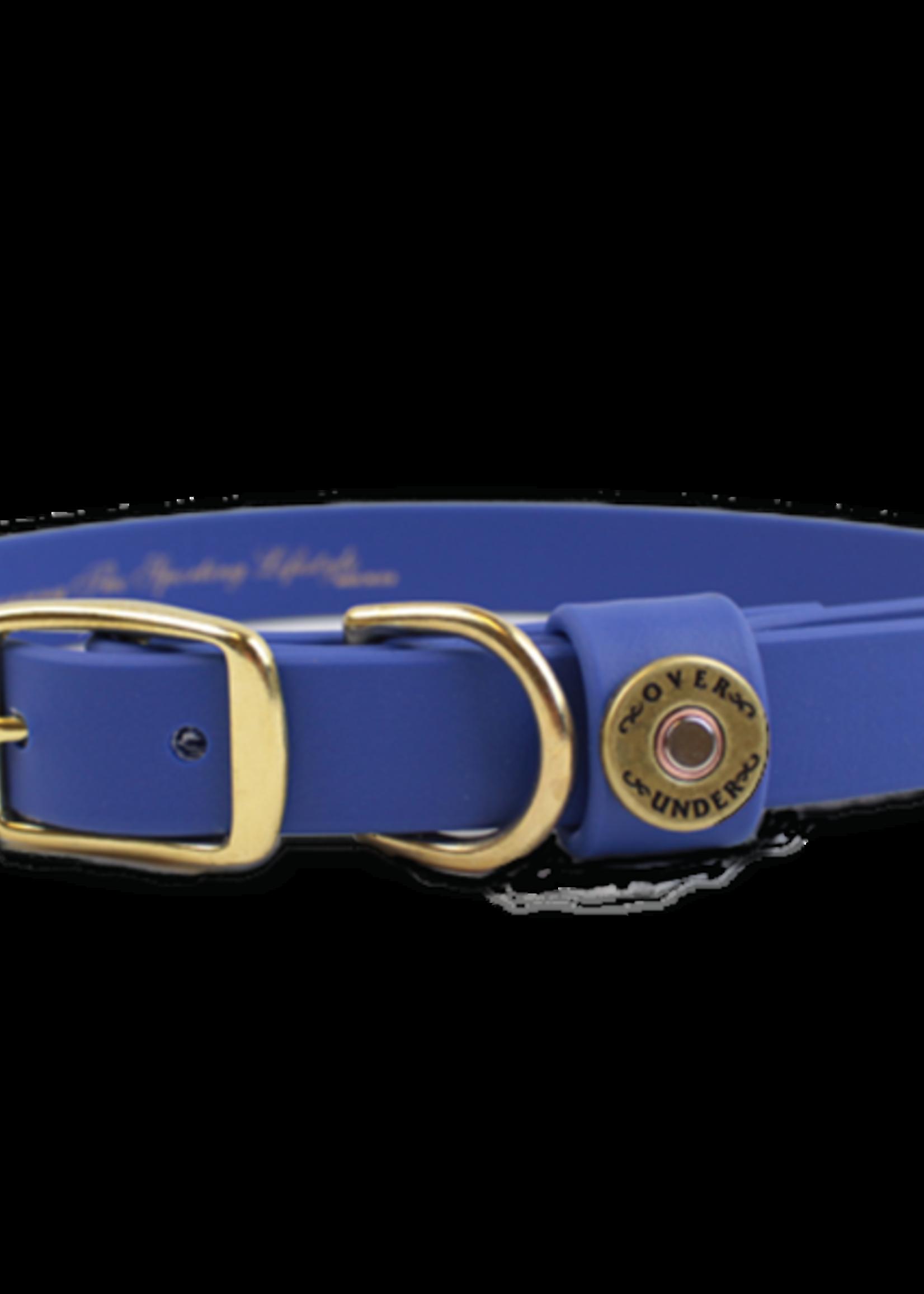 Over Under Water Dog Collar Blue
