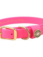 Over Under Water Dog Collar Pink