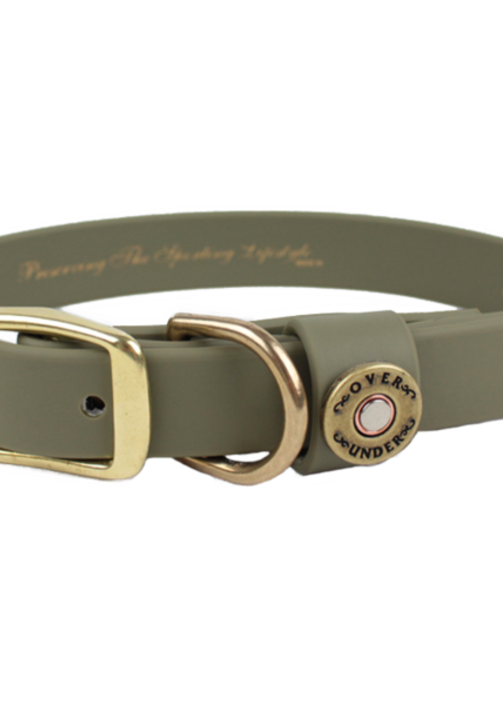 Over Under Water Dog Collar Olive