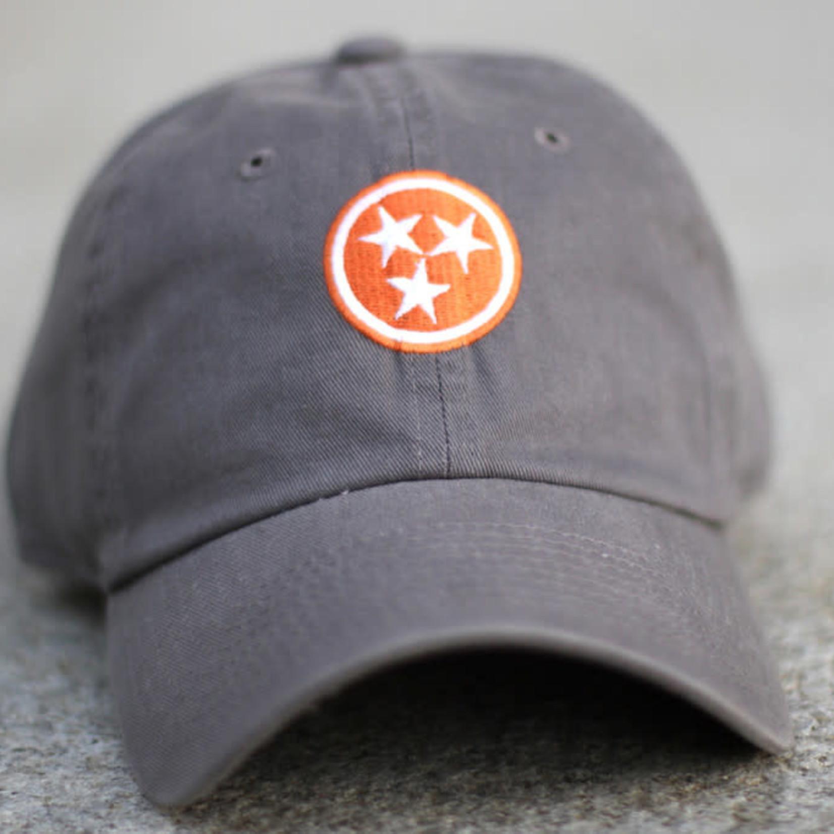 Volunteer Traditions Tristar Hat Grey-Orange