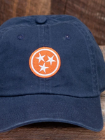Volunteer Traditions Tristar Hat Navy-Orange