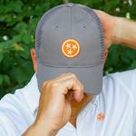Volunteer Traditions Tristar Promesh Hat Grey/Orange