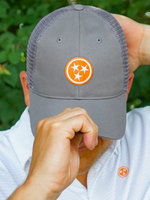 Volunteer Traditions Tristar Promesh Hat Grey/Orange