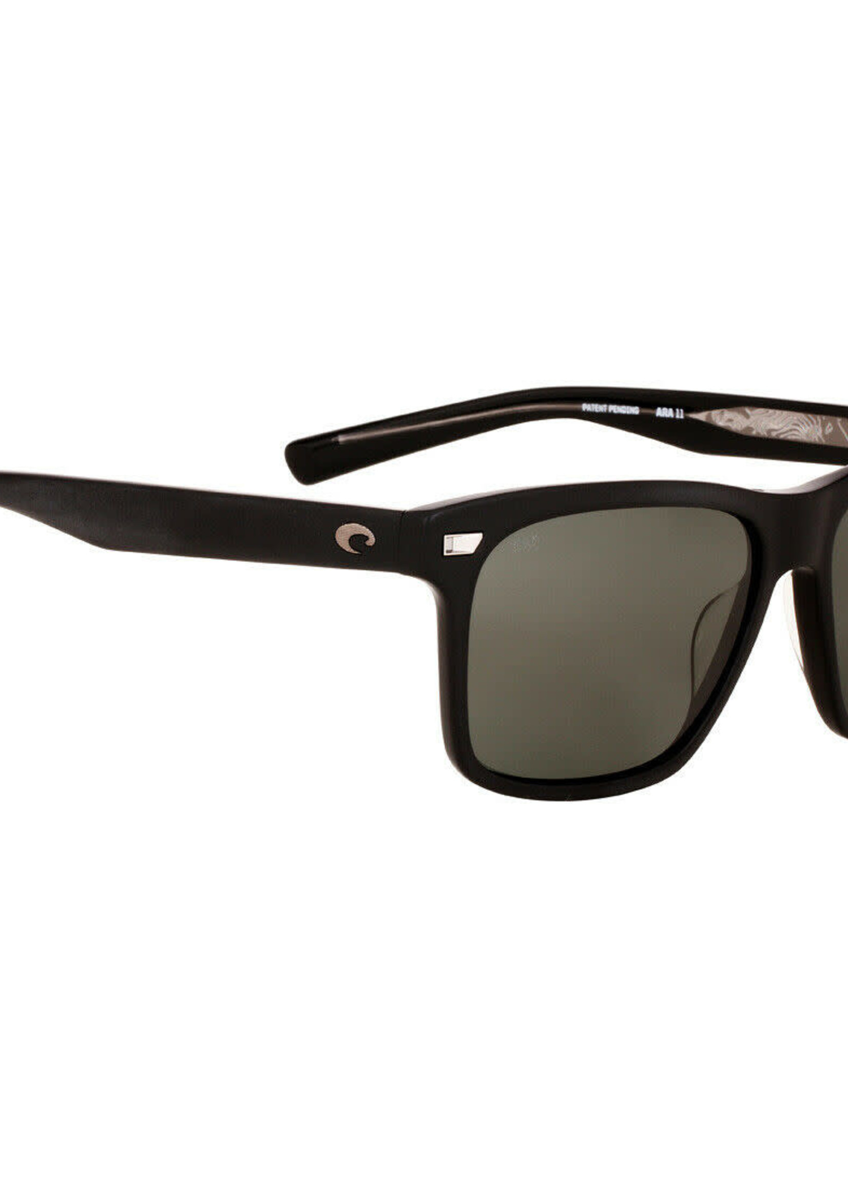 Costa del Mar Aransas Matte Black Grey Mirror 580G