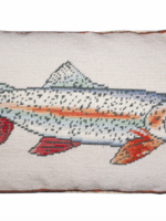Michaelian Swimming Rainbow Trout 12x21 Pillow