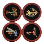 Smathers & Branson Fishing Flies Coaster Set