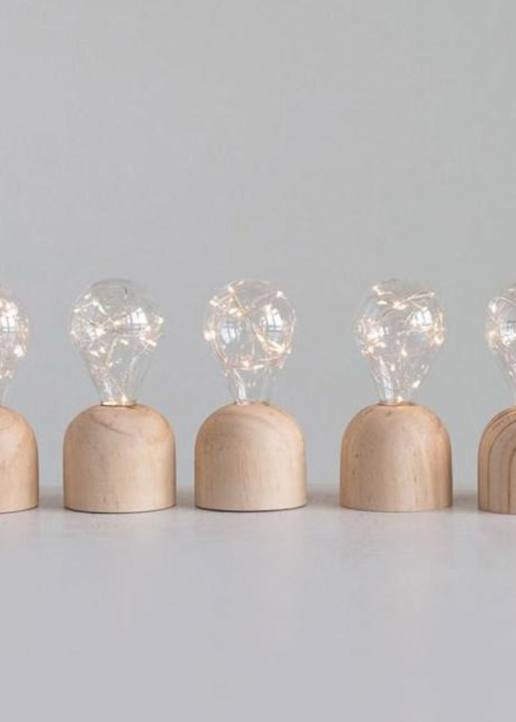 Oxbeau Wooden Base Light Bulb