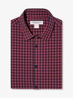Mizzen + Main Leeward Mens Dress Shirt - Red & Navy Gingham