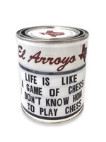 El Arroyo Chess Paint Can Candle