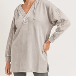 Mono B Washed Pullover Dusty Pink