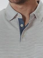 The Normal Brand Slub Polo Grey Stripe