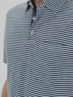 The Normal Brand Slub Polo Blue Stripe