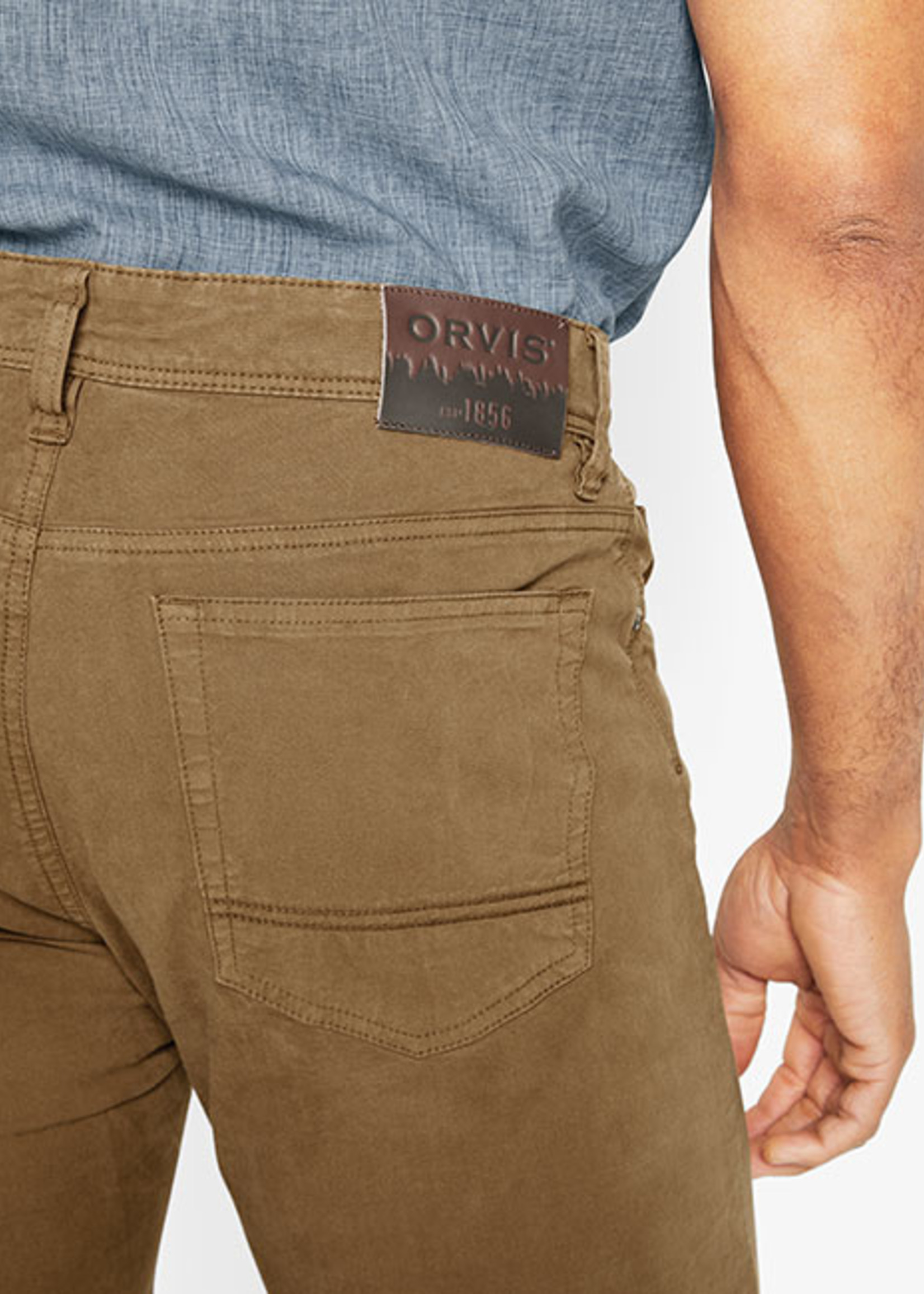 Orvis 5 Pocket Stretch Twill Desert Khaki