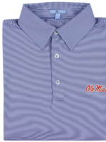 GenTeal Apparel Ole Miss Navy Pinstripe Polo
