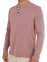 Free Fly Bamboo Henley Adobe Red